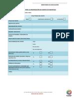 Formato de Ficha Tecnica y Planificacion de Eventos Estudiantiles 20150601