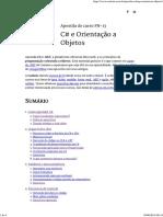 Apostila C# e Orientação a Objetos - Sumario