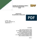 Filosofía de la Psicología - Introducción General UNAM
