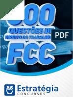 Apostilas 600 Questões FCC Direito Do Trabalho