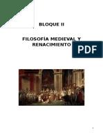 Bloque 2 - Filosofia Medieval y Renacimiento