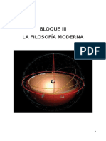 Bloque 3 - Filosofia Moderna