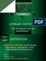 Literary Criticism -Paradigms