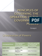 Principles of Governing the Operation of the Governmental