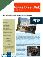 Oonas Dive Club Divemaster Leaflet