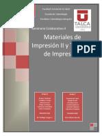 Materiales de Impresio II y Tecnicas de Impresiion
