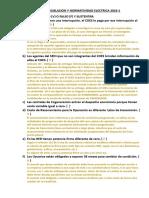 Examen de Legislacion y Normatividad Electrica 2016