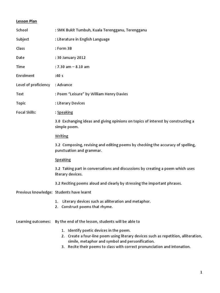 82567022 leisure lesson plancx poetry conversation biocorpaavc Gallery