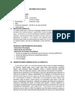 Informe Psicológico Modelo