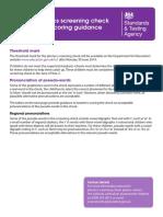 Phonics Screening Check 2014 Scoring Guide