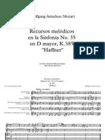 Recursos Melódicos de La Sinfonía No 35 en D Mayor, K 385 Haffner