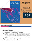 Chap 6 Microbial Nutrition and Growth Fall 2012
