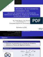 Cálculo de Parametros Estadisticos en Hidrologia Mediante La