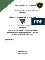 Informe deslizamiento Oyacoto