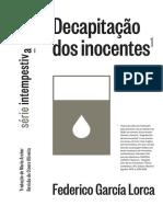 Garcia Lorca - Decapitação Dos Inocentes