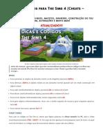 The Sims 4 Códigos
