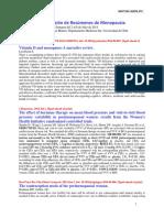 Selección de Resúmenes de Menopausia - Semanas del 2 al 8 de Julio de 2014