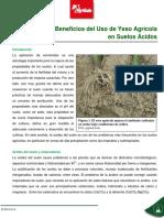 Bondades Del Yeso Agricola Para Suelos Acidos