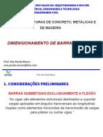 Dimensionamento de Barras a Flexao