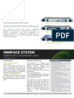 Datasheet Minipack 1U Systems 48V 1.6kW Bulk Feed Output and Int DC Distribution
