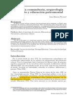 Arqueologia Comunitaria, Arqueologia de Contrato y Ed Patrimonial en Brasil