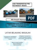 Kebijakan Transportasi Pro Masyarakat Miskin