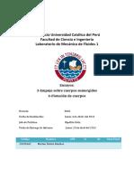 Informe 1 Mecánica de Fluidos-Ensayos 3 y 4