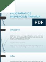 Programas de Prevención Primaria