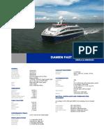 Damen Fast Ropax Ferry 4512 YN53015152 DS
