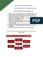 Introducción Al Sistema de Gestión CAPA