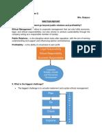 CSR Written Report