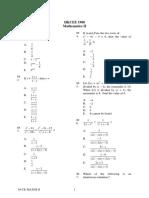 1988 Mathematics Paper2