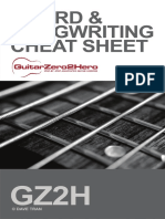 Guitar Chord Songwriting Cheat Sheet
