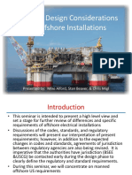 Offshore Electrical Design 2015-04-07