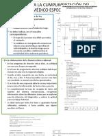 Normas Para La Cumplimentación Del Protocolo Médico Específico