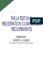 Bir Registration Requirements