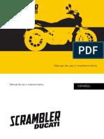 Manual Usuario Ducati Scrambler ESP MY16 ED00