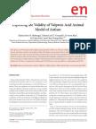 Validity of Vpa Model