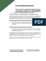 Acta de Termino Huancano