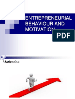 Entrepreneurial Behaviour and Motivation