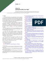 Standard Specification for High-Density Polyethylene (PE) Line Pipe