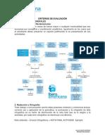 Criterios de Evaluación Procesos Pedagógicos v -II 2016