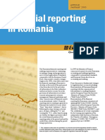 Financial Reporting in Romania Jan 05
