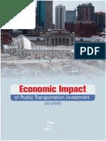Economic Impact Public Transportation Investment APTA
