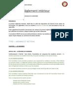 Règlement Intérieur FUREUR 07 03 17