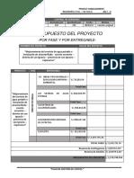 11. Presupuesto Del Proyecto Por Fase y Entregable