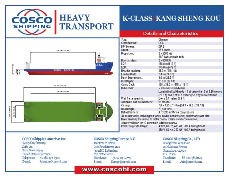 KClass Kang Sheng Kou COSCOHT | Hull (Watercraft) (9 views)