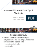 Advanced Excel Tips