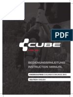 Cube KID 120 Cubie 120 Balance Bike User Manual Instruction Manual English Deutsch 2012