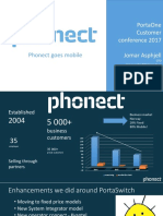 Customer presentation. Phonect goes mobile